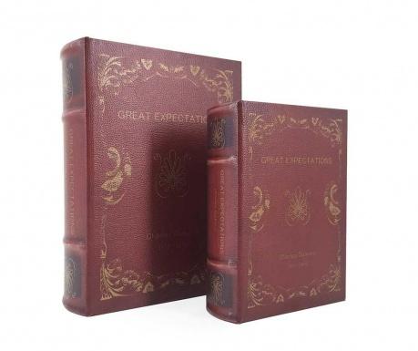 Σετ 2 κουτιά τύπου βιβλίο Great Expectations