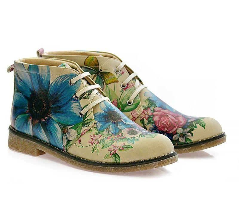 Ženske gležnjače Butterfly and Flowers 37