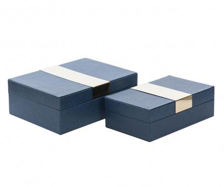Zestaw 2 pudełek z pokrywką Milo Blue