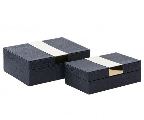 Zestaw 2 pudełek z pokrywką Milo Black
