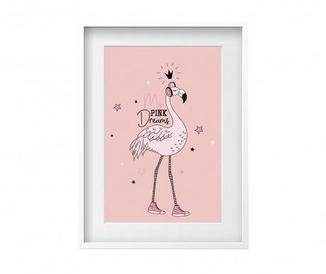 Flamingo Dreams Kép 24x29 cm