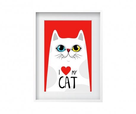 Love My Cat Kép 24x29 cm