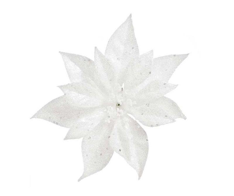 Ukras Poinsettia Glitter White