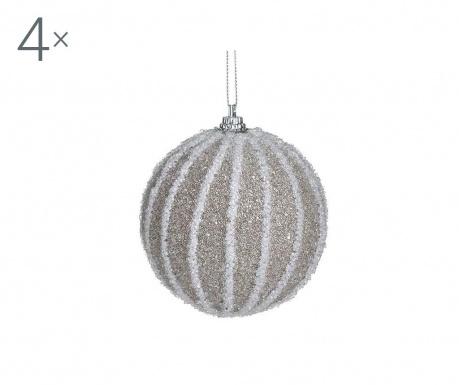 Set 4 globuri decorative Perles