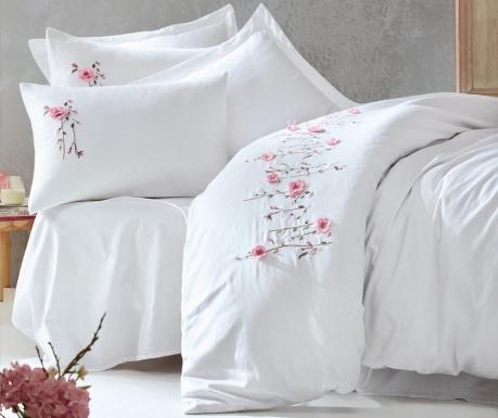Σετ κλινοσκεπάσματα King Sateen Supreme Perla Embroidered White