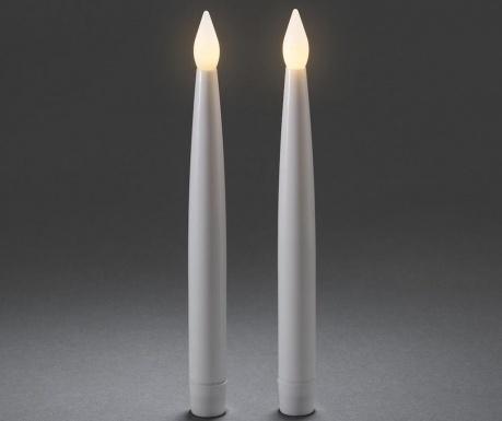 Set 2 LED sveč Flackernde