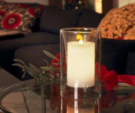 Κερί με LED Transparent