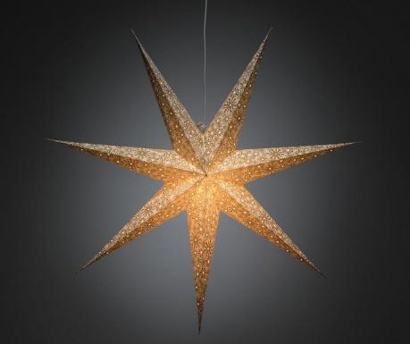 Decoratiune luminoasa suspendabila Golden Star