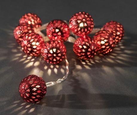 Φωτεινή γιρλάντα Red Beads 90 cm