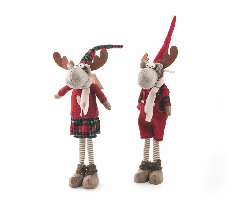 Set 2 decoratiuni Funny Reindeers