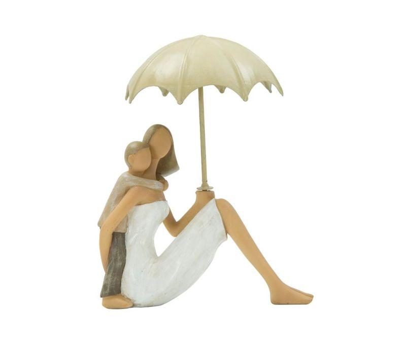Dekorace Woman Sitting with Umbrella