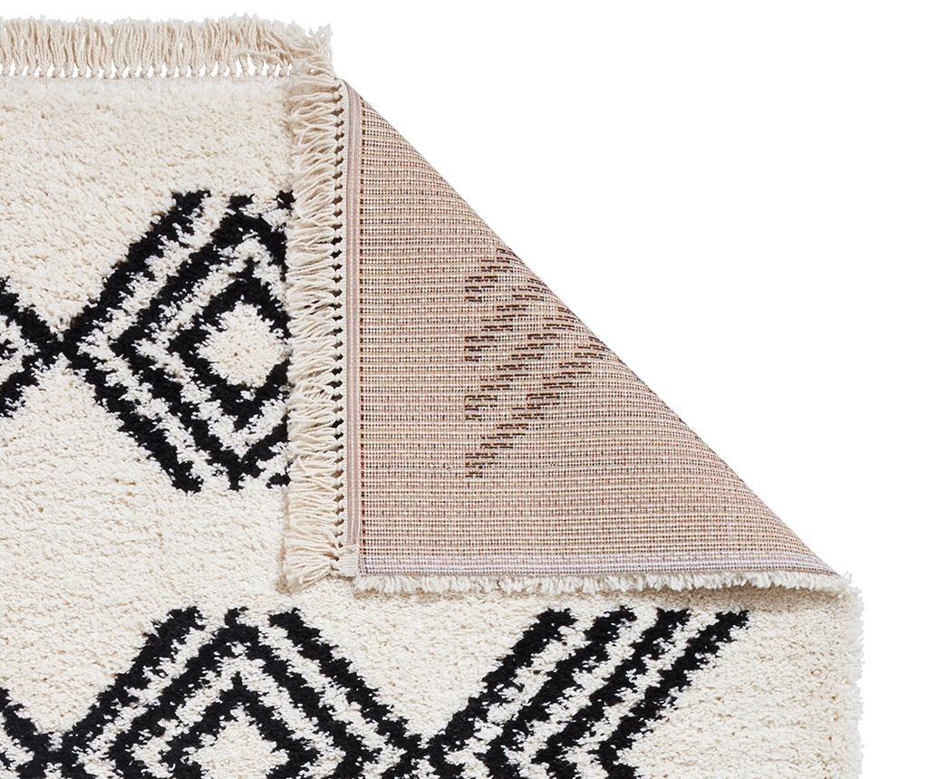 Covor tip pres Boho Colyce Ivory and Black 120x170 cm