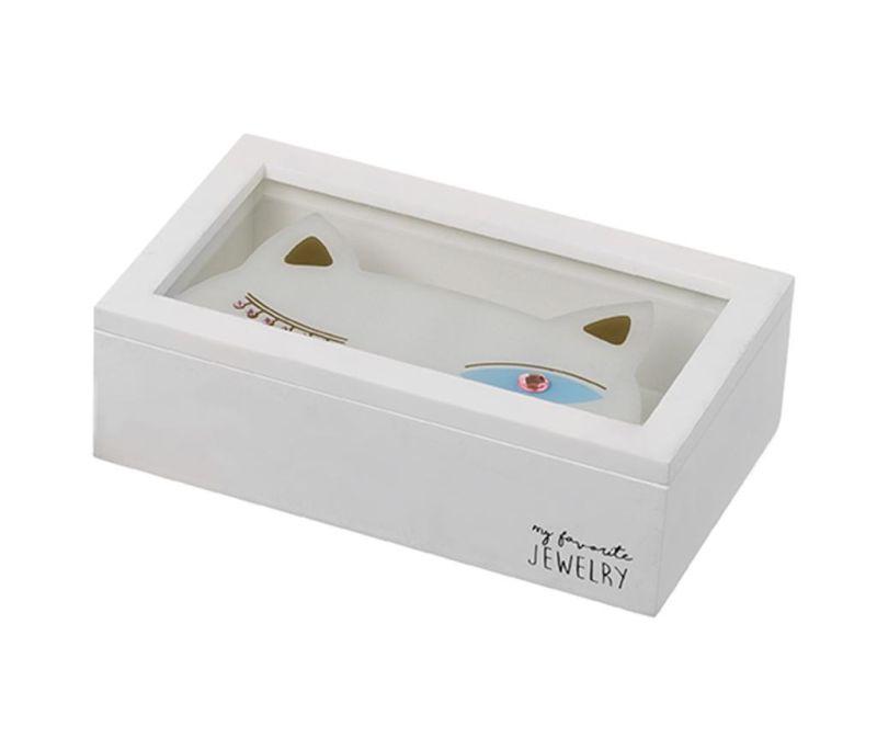 Shopping Cat White Ékszertartó doboz