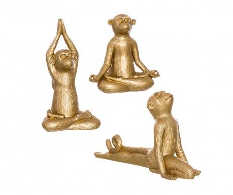 Sada 3 dekorácií Monkey Yoga