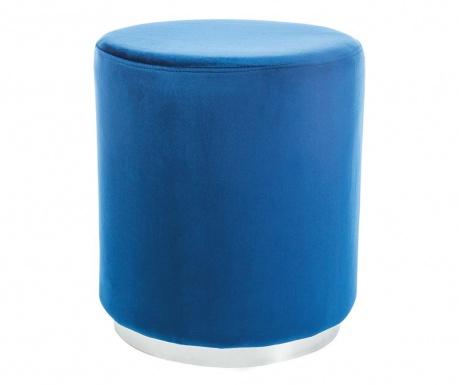 Taboret Turla Blue & Silver