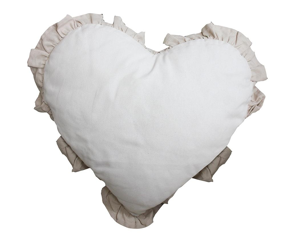 Perna decorativa Chantal Heart Ivory Light Dove 40x40 cm