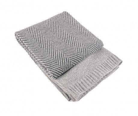 Koc Fishbone Grey 130x170 cm