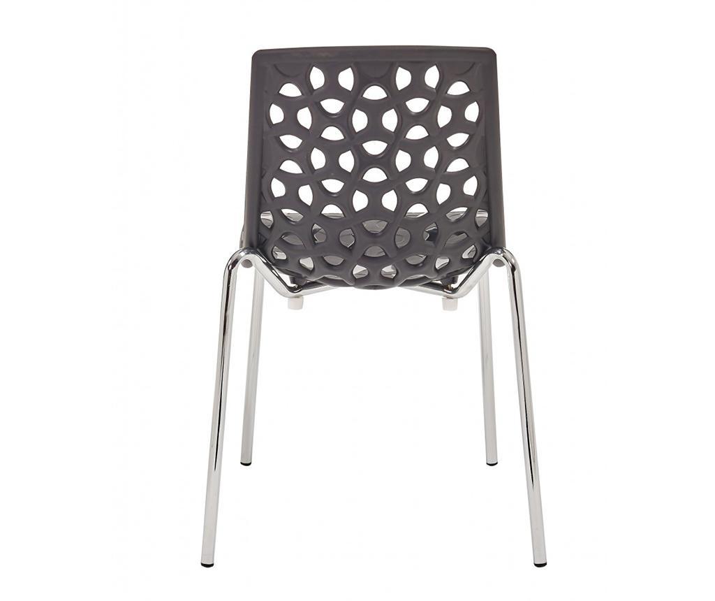 Set 6 stolov Dhalia Black