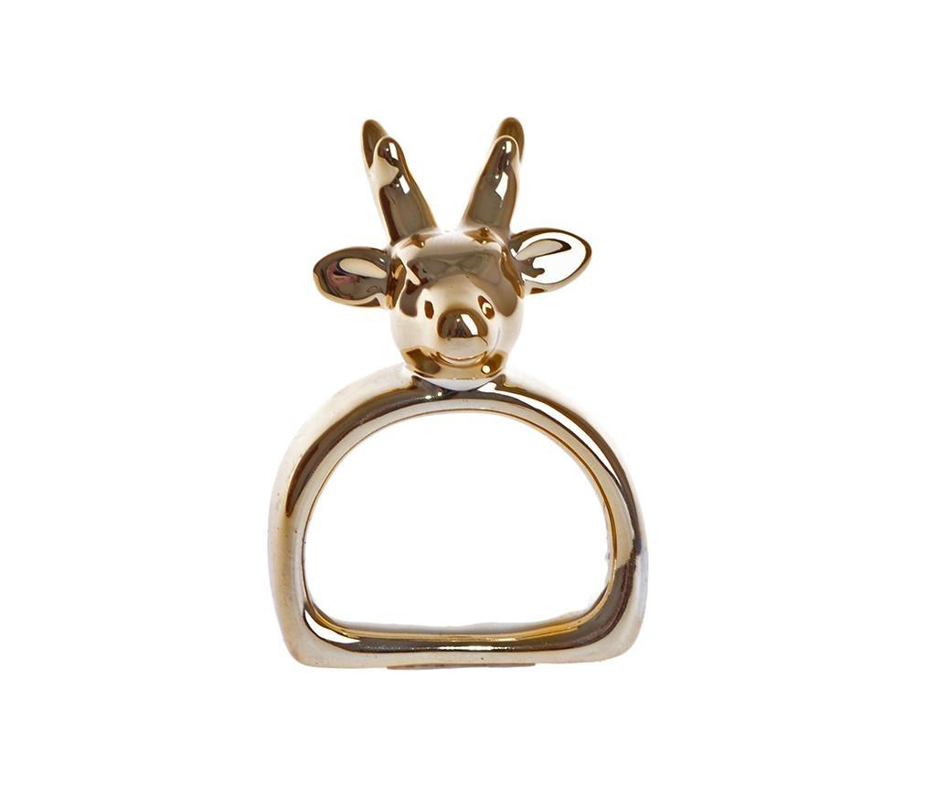 Inel pentru servet Reindeer Gold