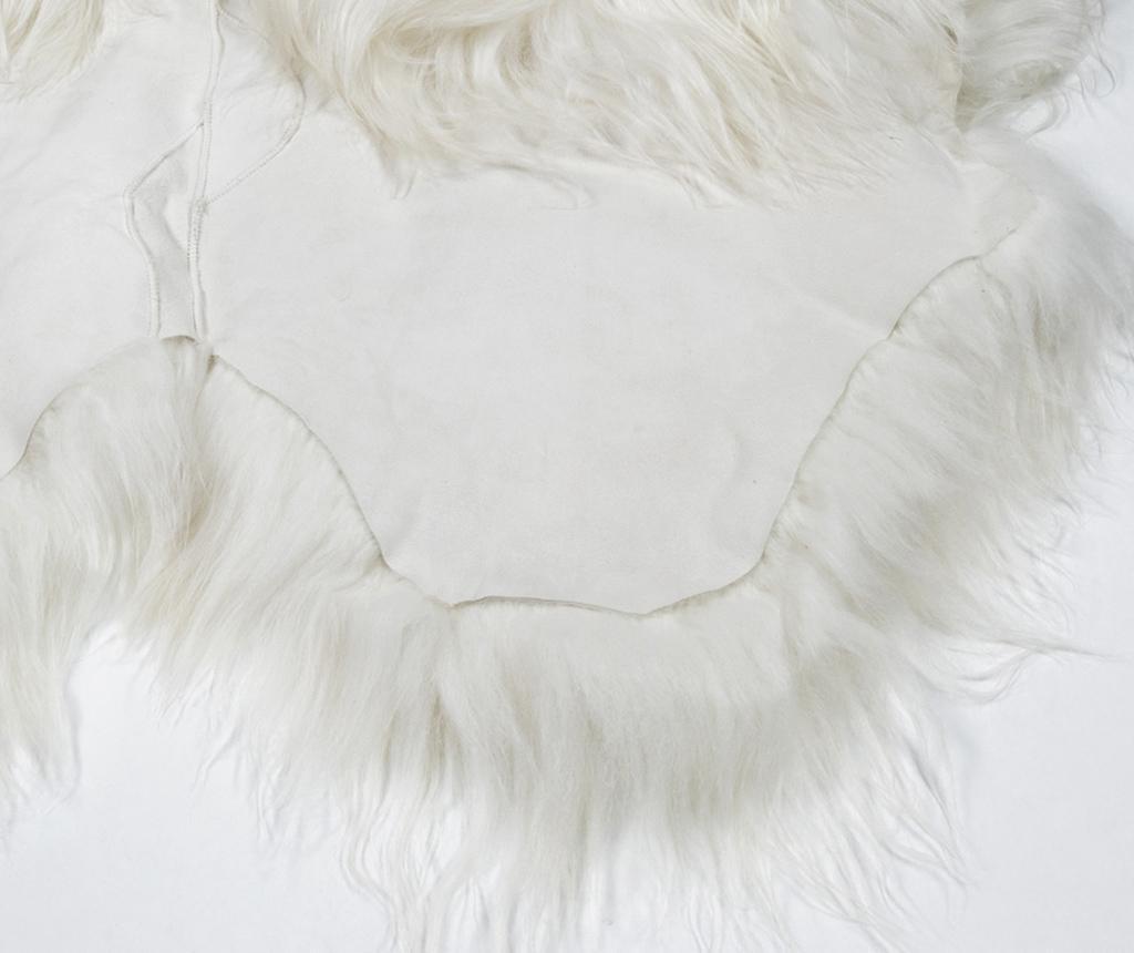 Janjeće krzno Icelandic Long Natural White 120x180 cm