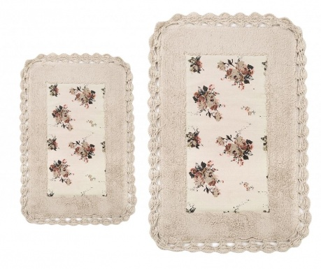 Zestaw 2 dywaników łazienkowych Essa Beige