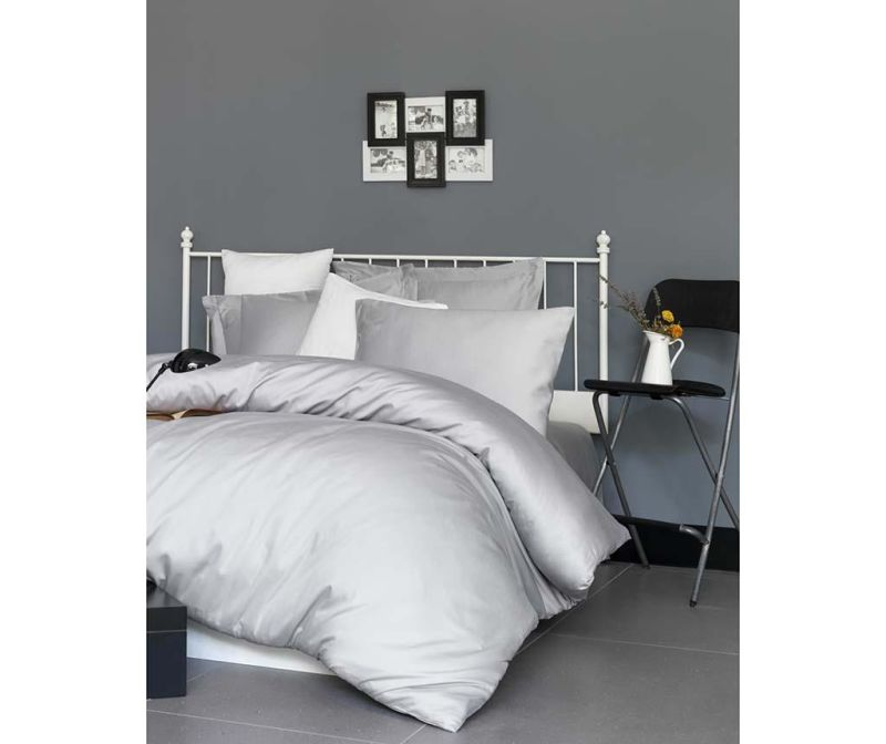 Спално бельо Double Satin Supreme De Light Grey 200x220