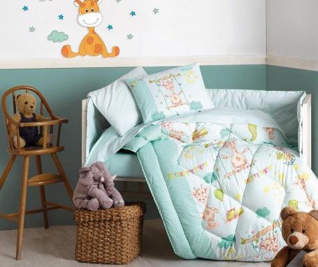 Otroška posteljnina, odeja in dodatki Ranforce Giraffe Green