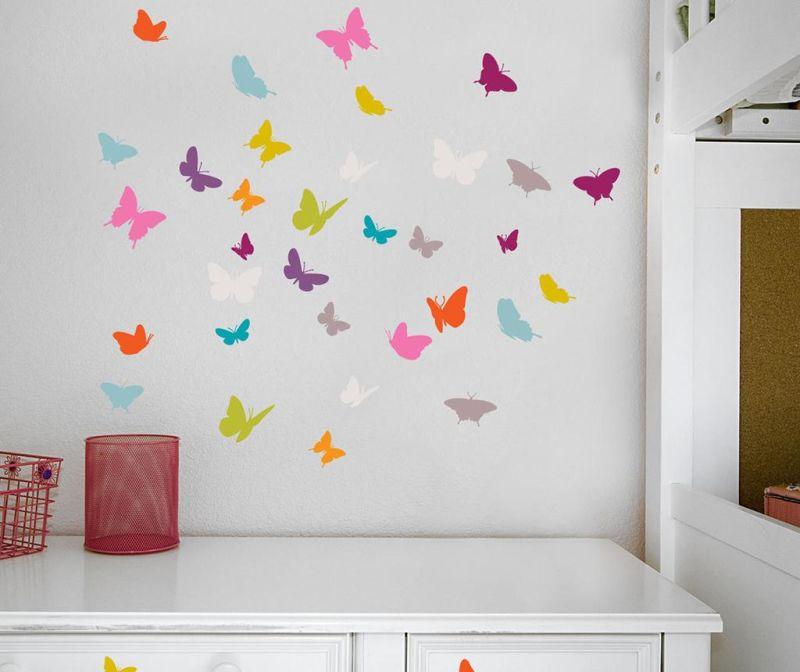 Set 18 naljepnica Butterflies