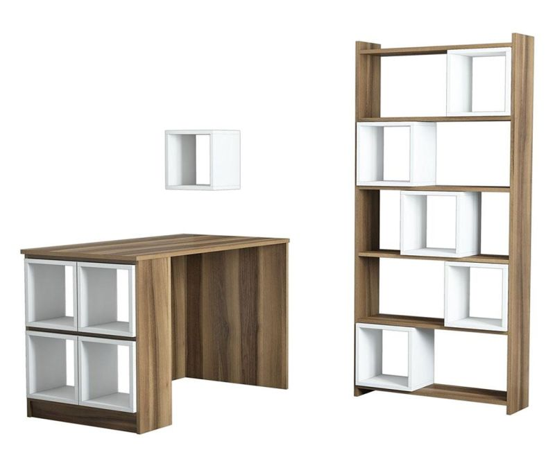 Sada psací stůl, knihovna a 10 modulárních polic Byrd White