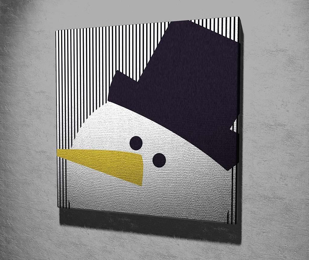 Tablou Black Hat Snowman 45x45 cm