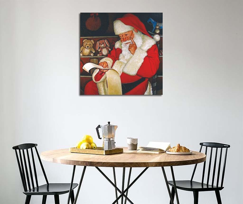 Tablou Santa's List 45x45 cm
