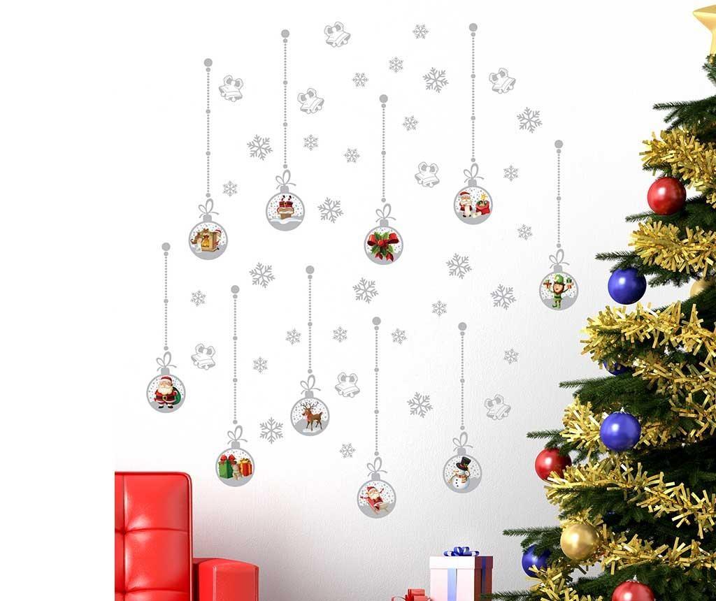 Nalepka Christmas Silver
