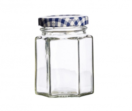 Βάζο με καπάκι Twist Hexagonal 110 ml