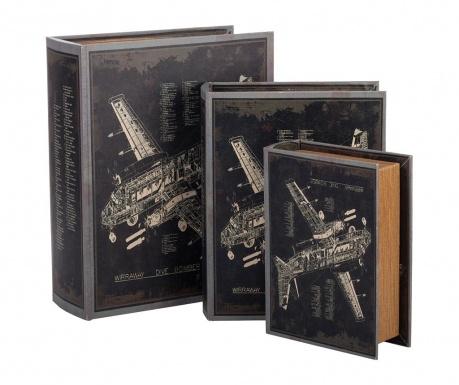 Zestaw 3 pudełek typu książka Wiraway Dive Bomber