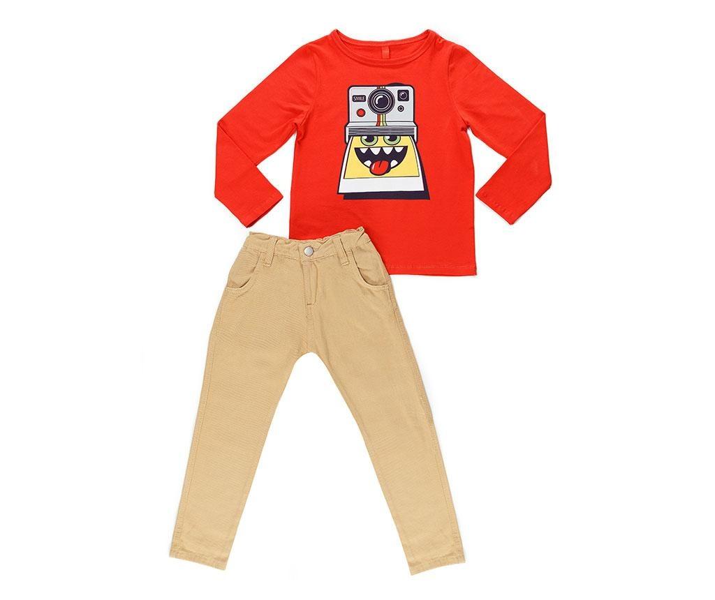 Set bluza si pantaloni copii Smile Gabardine 7 ani