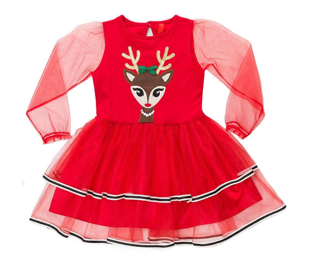 Rochie cu maneca lunga pentru copii Tulle Deer 2 ani