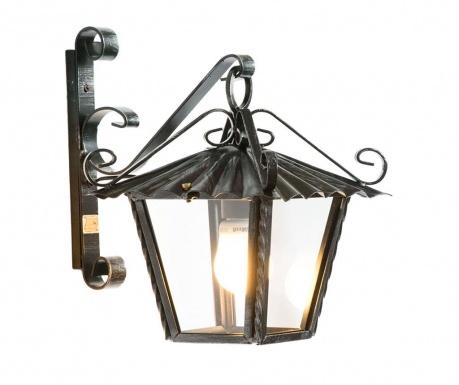 Zewnętrzna lampa ścienna Perugia Black