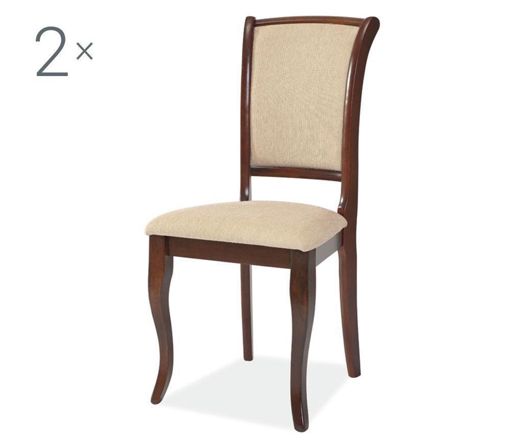 Sada 2 židlí Anahi Brown