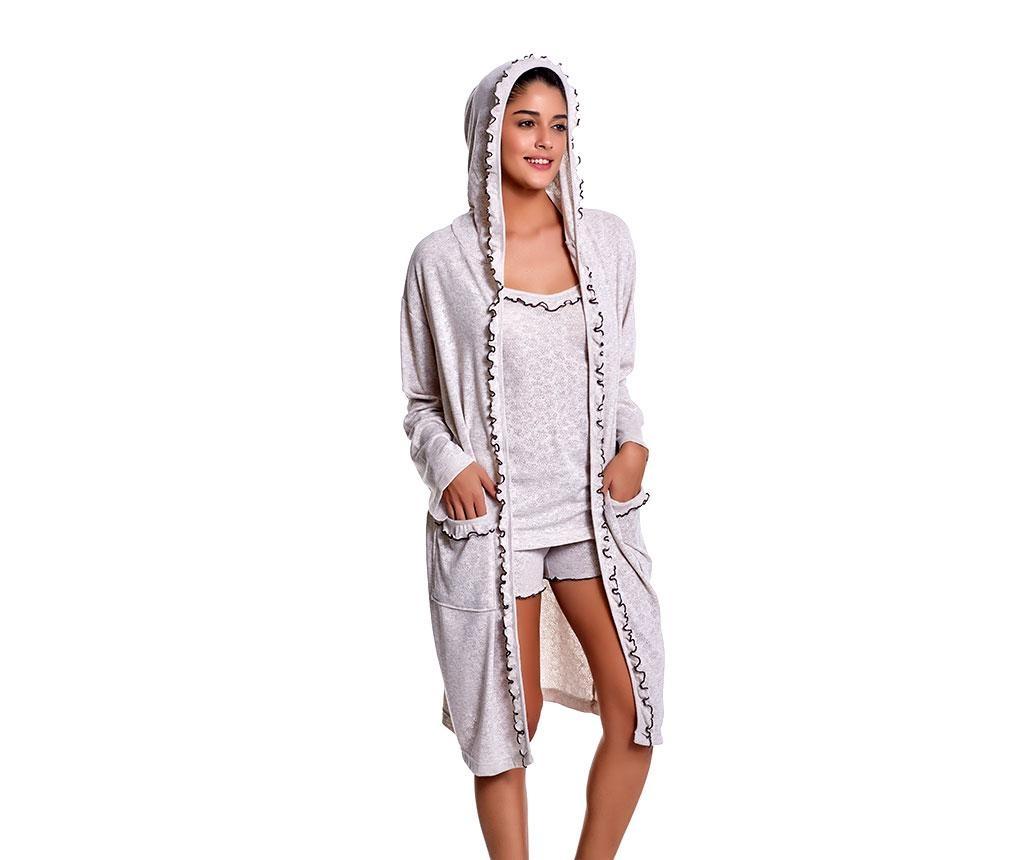 Set pijama si halat de casa dama Penelope Natural XL