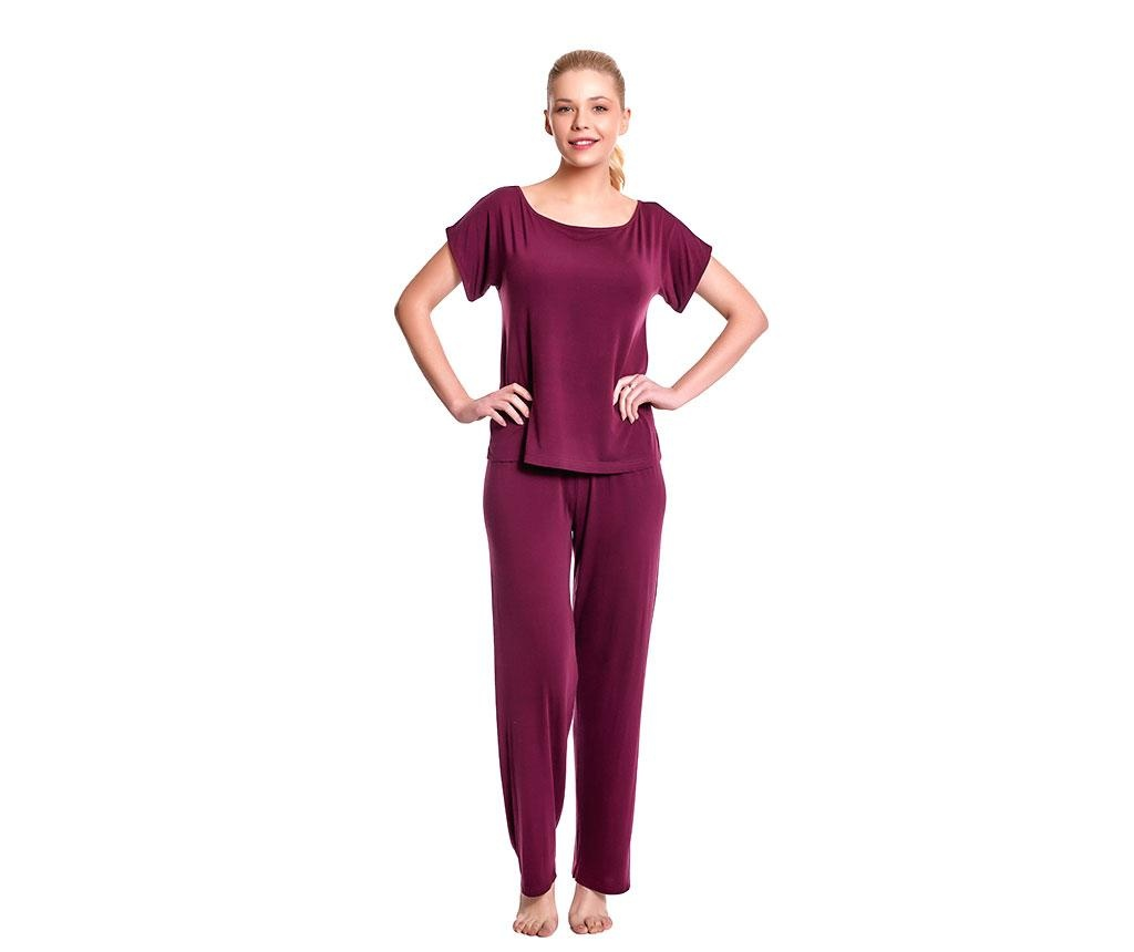 Pijama dama Lillian Red Wine S