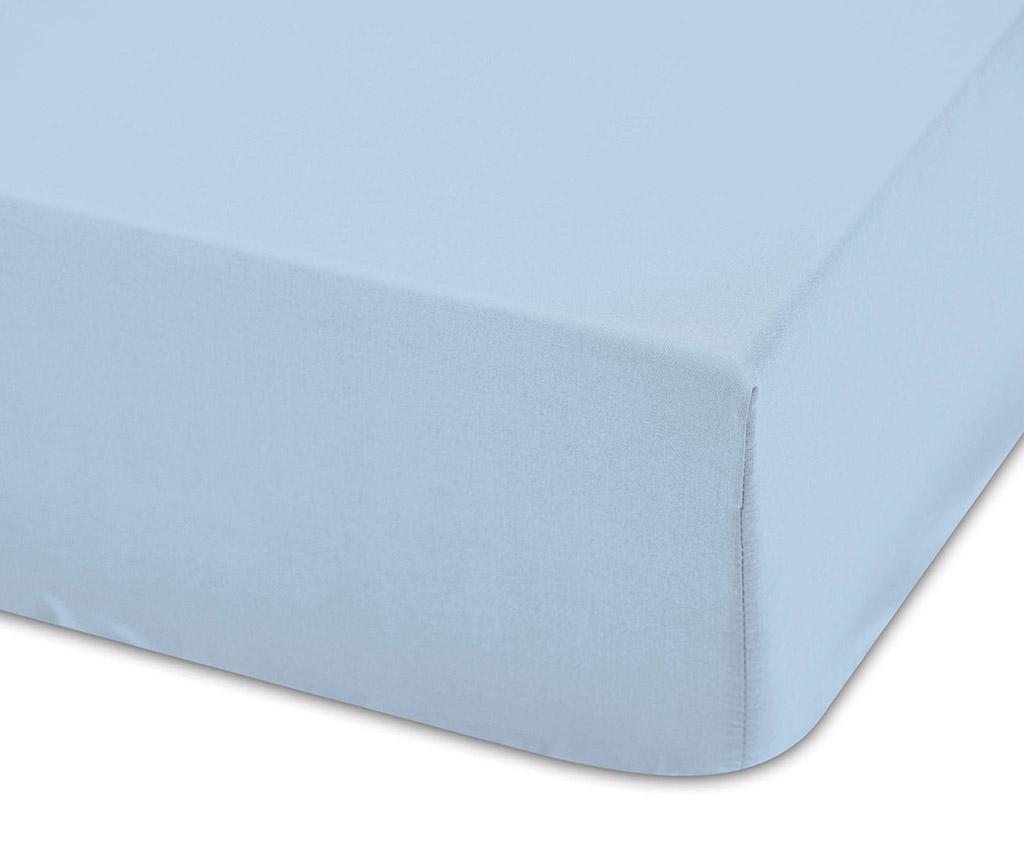 Cearsaf de patut cu elastic Lisa Celeste 70x140 cm