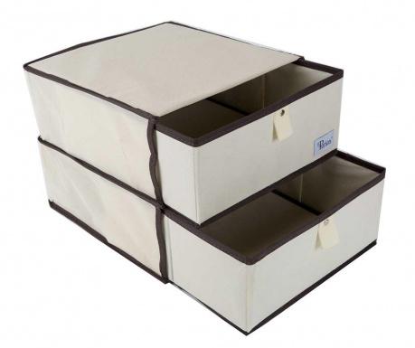 Zestaw 2 pudełka typu szuflada do przechowywania i stojak Ruth