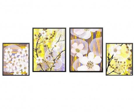 Σετ 4 πίνακες Cherry Flowers