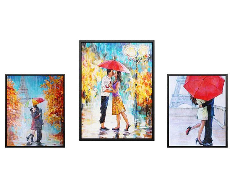 Set 3 tablouri Love in the Rain