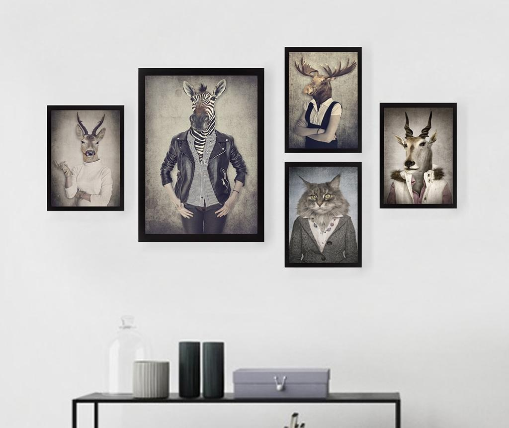 Set 5 slika Hipster Animals