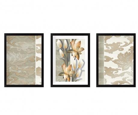 Σετ 3 πίνακες Tulips 24x29 cm
