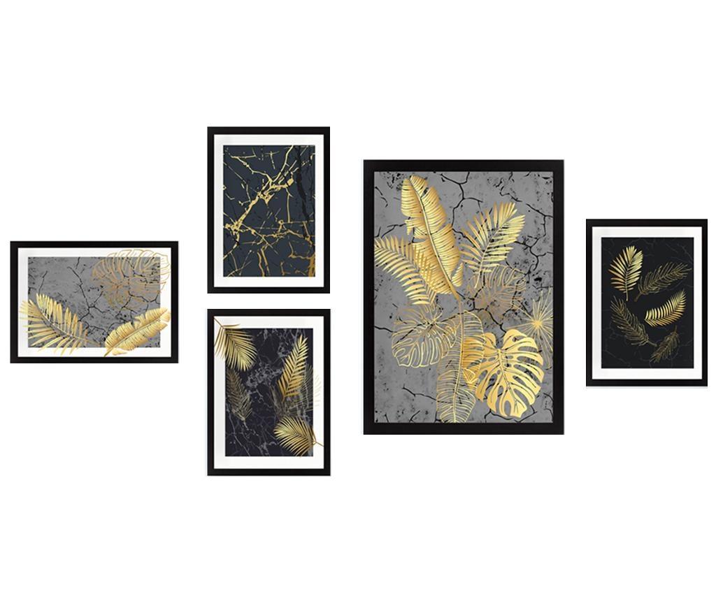 Set 5 slika Golden Palm