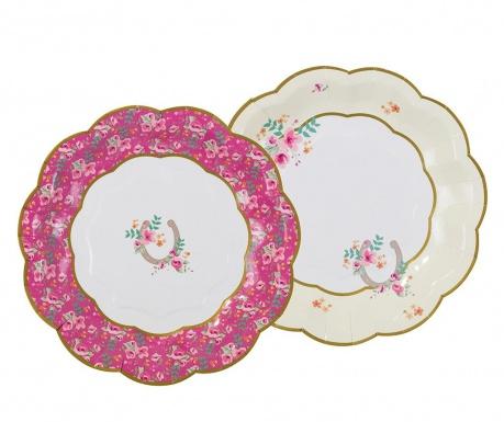 Set 12 tanjura za jednokratno korištenje Pony Party