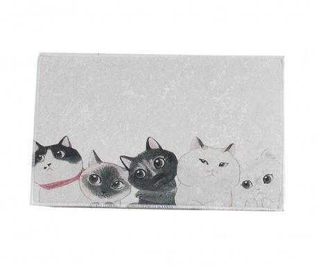Curious Cats Fürdőszobai szőnyeg 40x60 cm