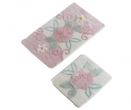 Garden Pink 2 db Fürdőszobai szőnyeg